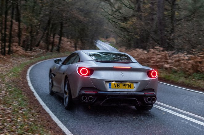 Ferrari Portofino 2019 rear tracking shot