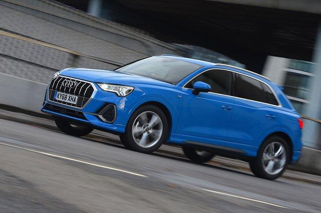 Audi Q3 driving