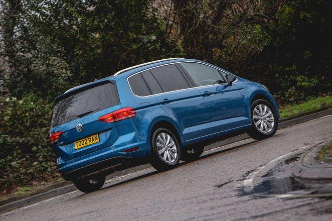 Volkswagen Touran 2021 rear cornering shot