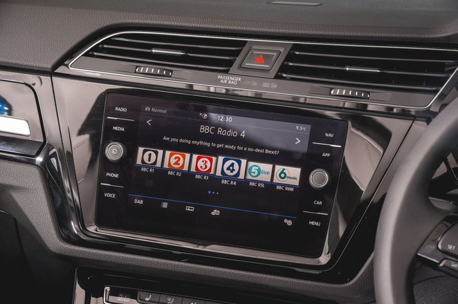 Volkswagen Touran 2021 infotainment