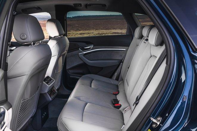 Audi E-tron 2019 UK rear seats