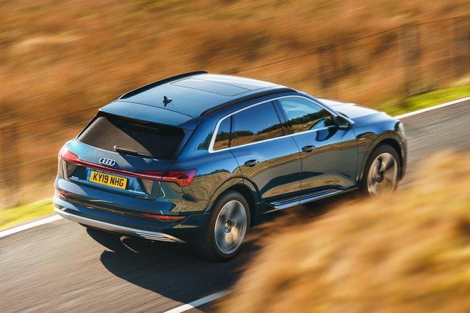 Audi E-tron 2019 UK high rear right tracking
