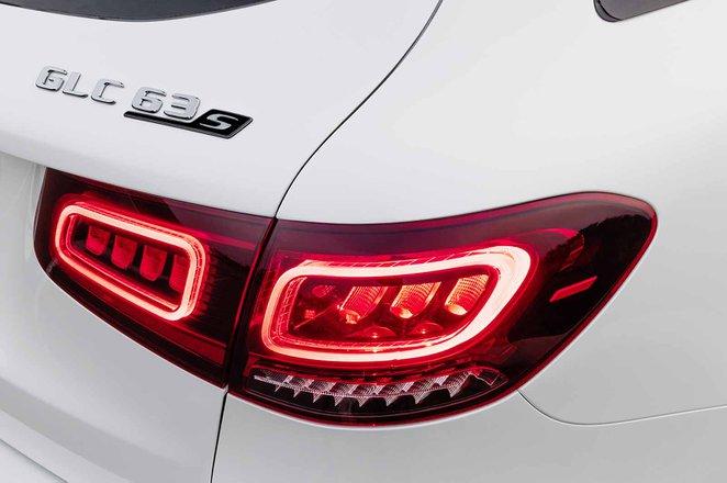Mercedes-AMG GLC 63 Facelift 2019 rear lights detail