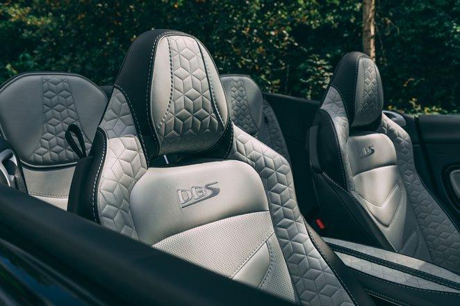 Aston Martin DBS Volante 2019 RHD front seats