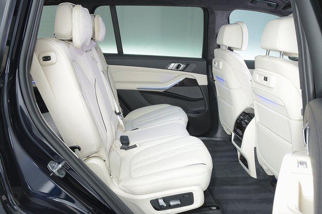 BMW X7 rear seats
