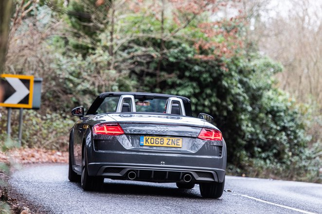 Audi TT Roadster 2019 right rear cornering
