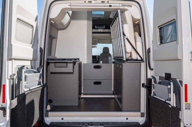 Volkswagen Grand California 2019 RHD boot open