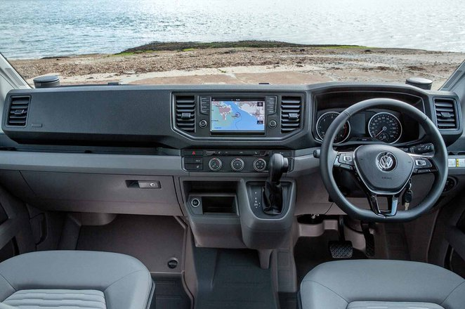 Volkswagen Grand California 2019 RHD dashboard
