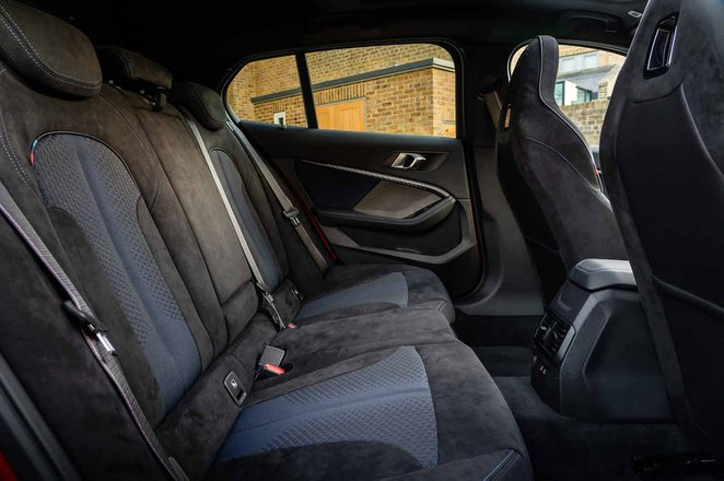 BMW M135i xDrive 2019 rear seats