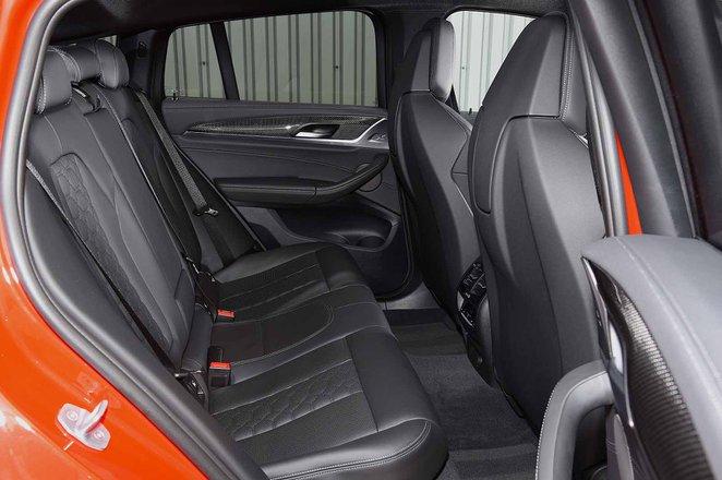 BMW X4 M Competition 2019 RHD rear seats
