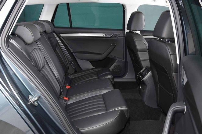 Skoda Superb Estate 2019 rear seats RHD