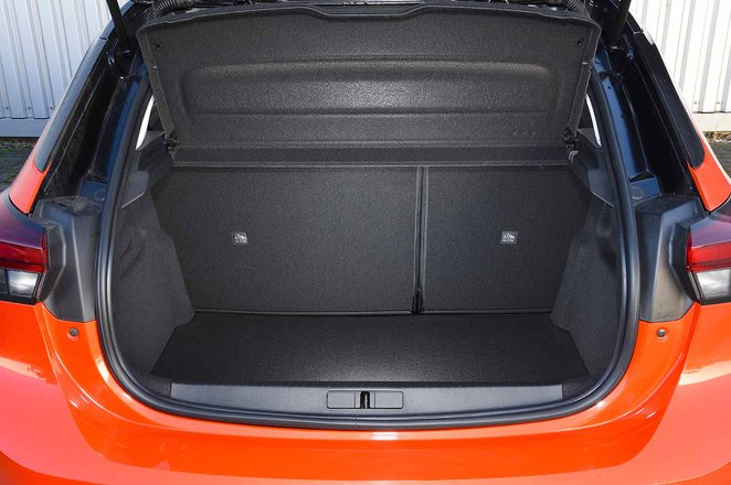 Vauxhall Corsa 2019 boot open RHD
