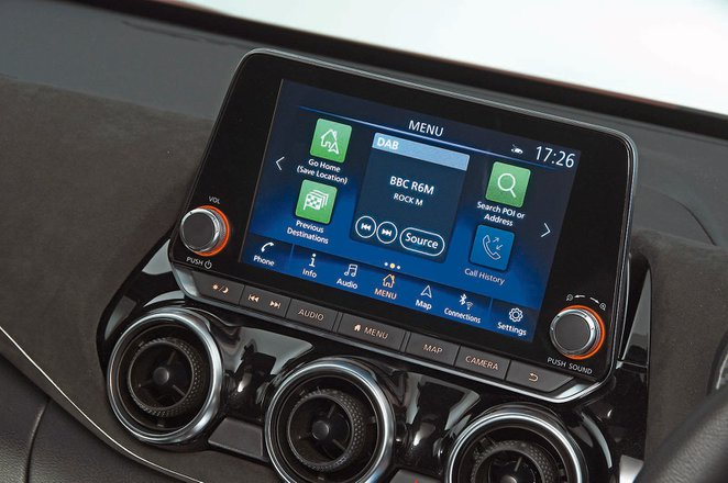 Nissan Juke 2019 infotainment RHD