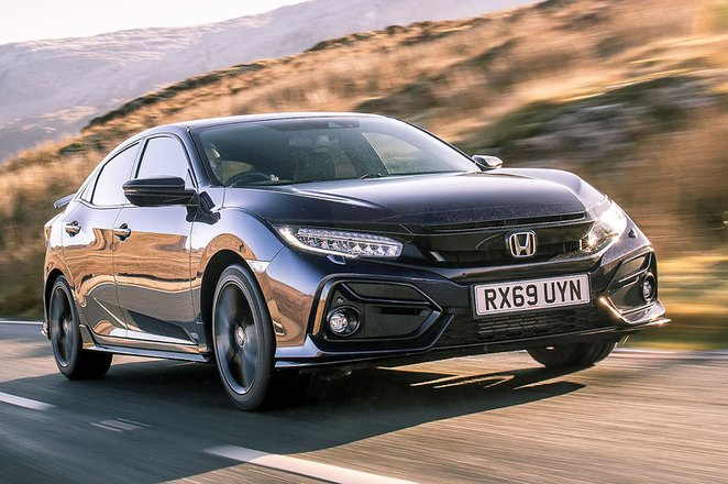 Honda Civic Hatchback 2021 front tracking RHD