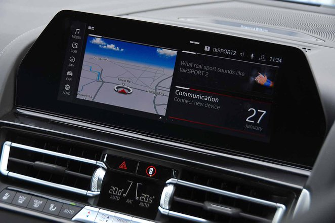 BMW M8 Competition 2020 RHD infotainment