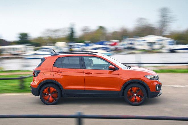 Volkswagen T-Cross driving