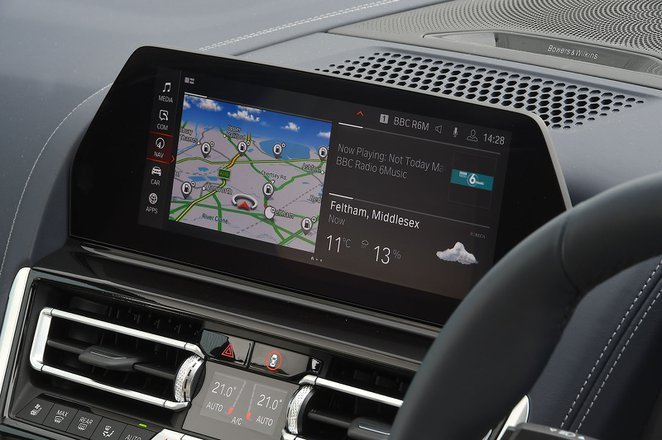 BMW 8 Series Gran Coupé 2020 RHD infotainment