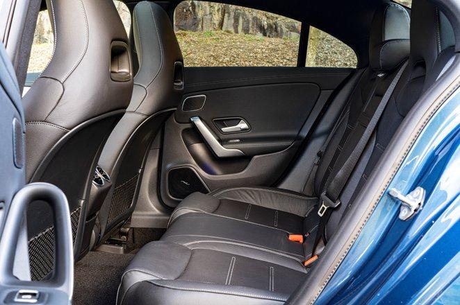 Mercedes CLA 35 AMG 2020 RHD rear seats