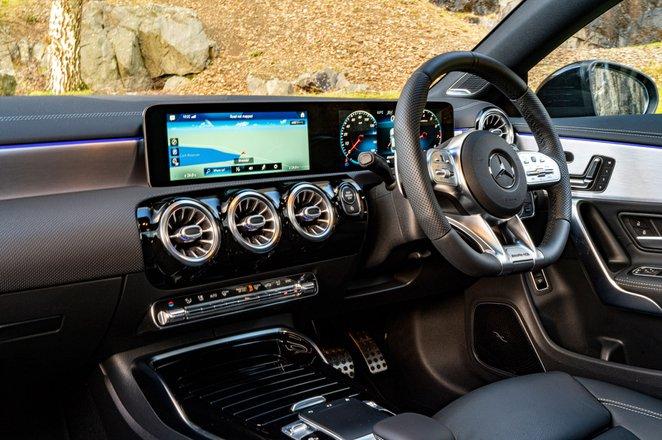 Mercedes CLA 35 AMG 2020 RHD dashboard
