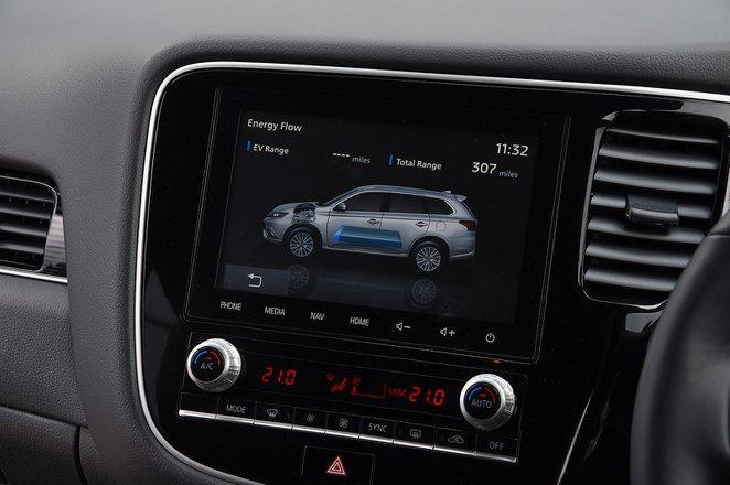 2020 Mitsubishi Outlander PHEV RHD infotainment