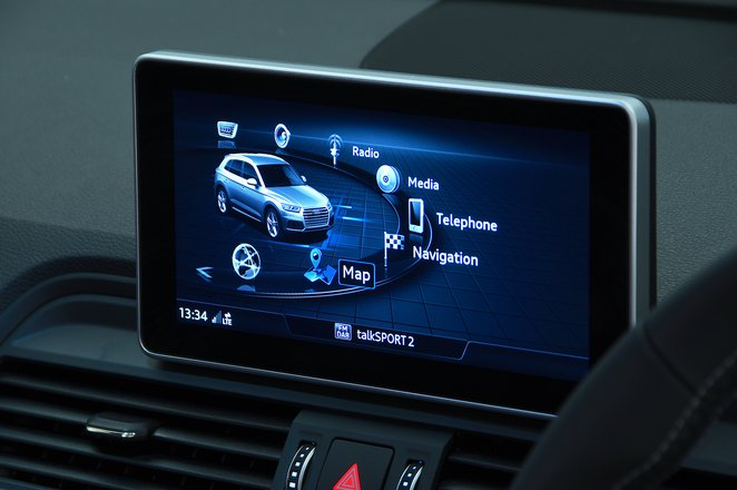 Audi SQ5 infotainment screen