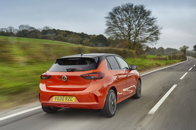 Vauxhall Corsa-e 2020 RHD rear cornering