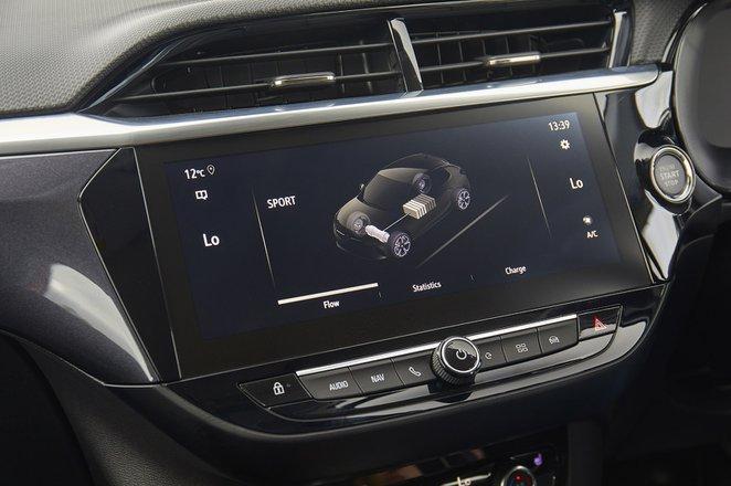 Vauxhall Corsa-e 2020 RHD infotainment