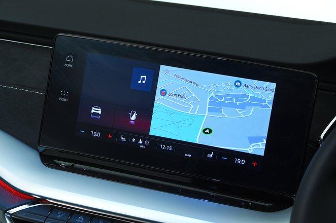 Skoda Octavia Estate 2021 infotainment touchscreen