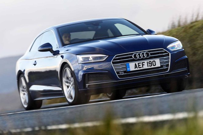Audi A5 Coupe RHD front right tracking