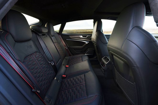 2020 Audi RS7 Sportback rear seats