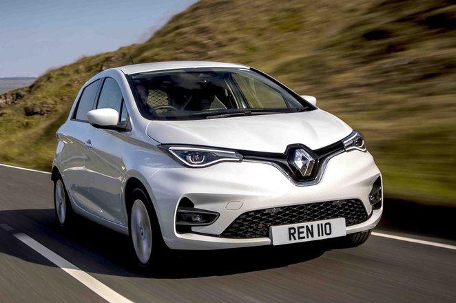 Renault Zoe Van front action