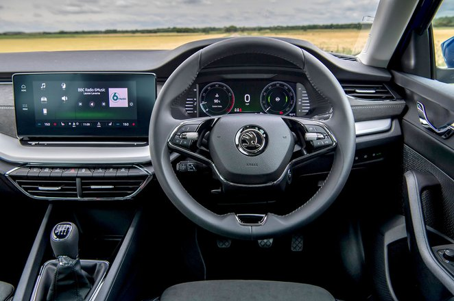 Skoda Octavia hatchback 2020 RHD dashboard