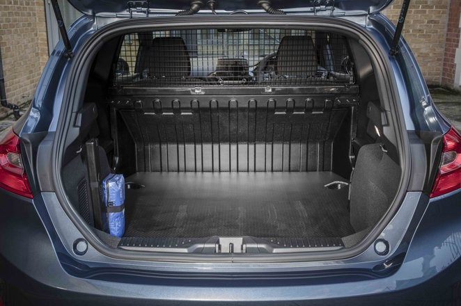 Ford Fiesta Van boot open load space