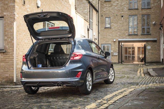 Ford Fiesta Van boot opening