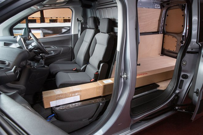 Toyota Proace City van interior and load space