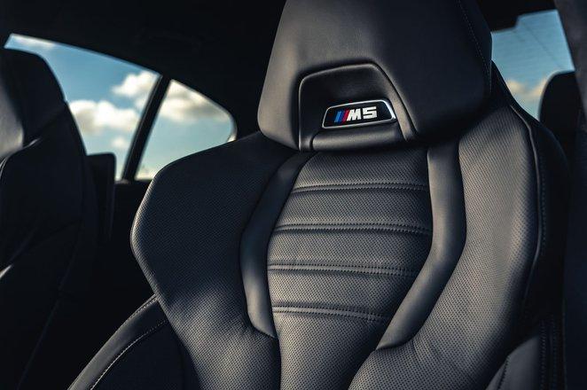 BMW M5 2020 rear seats