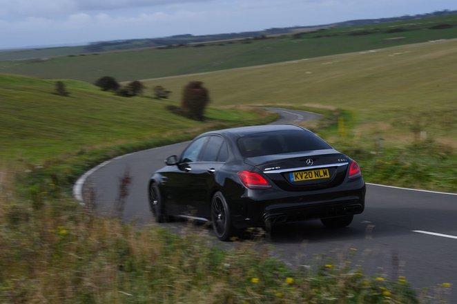 Mercedes C63 S 2020 rear cornering