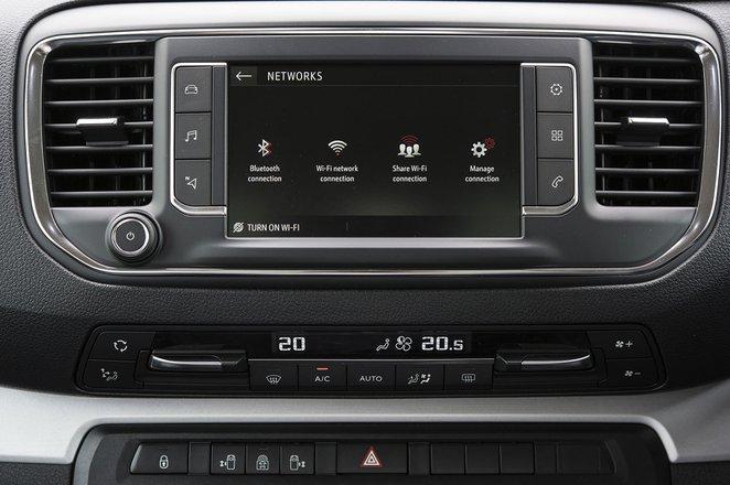 Vauxhall Vivaro-e Life infotainment system