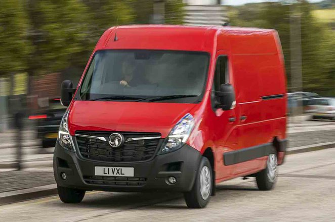 Vauxhall Movano action front