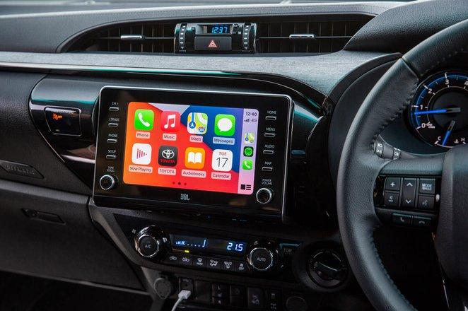 Toyota Hilux 2021 Infotainment screen