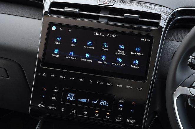 Hyundai Tucson 2021 infotainment