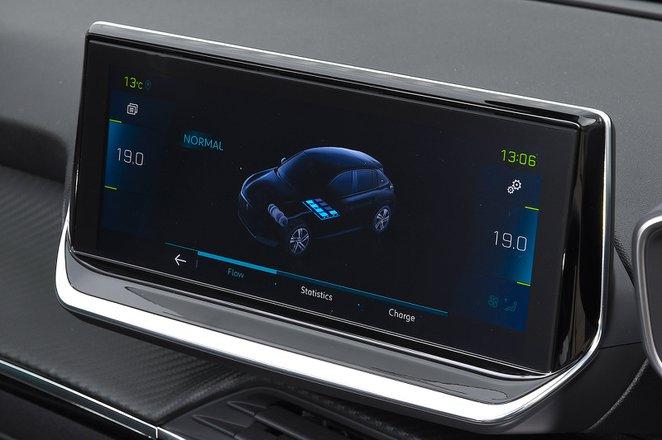 Peugeot e-208 2021 RHD infotainment