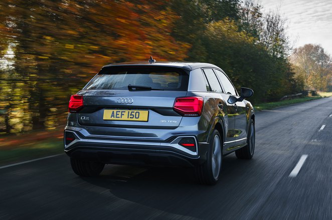 Audi Q2 2021 rear cornering