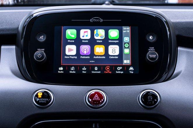 Fiat 500X 2021 infotainment