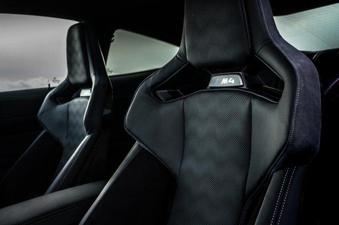 BMW M4 2021 seats view