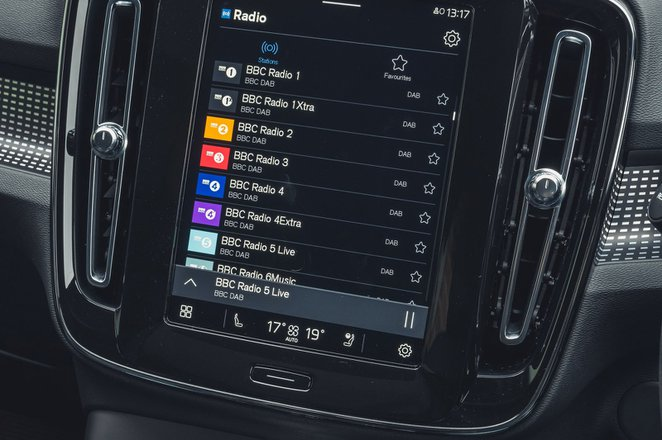 Volvo XC40 Recharge Pure Electric 2021 infotainment