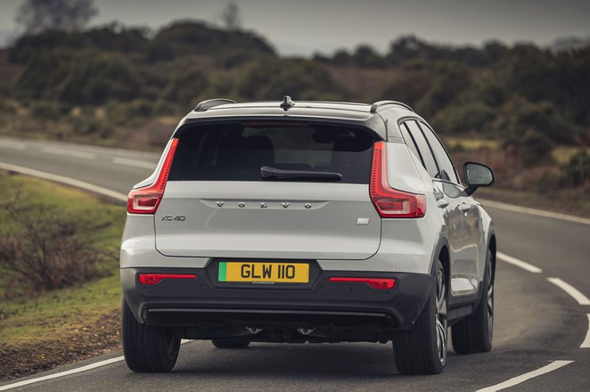 Volvo XC40 Recharge Pure Electric 2021 rear cornering