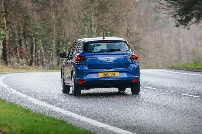 Dacia Sandero 2021 rear cornering