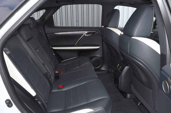 Lexus RX450h 2021 interior rear seats