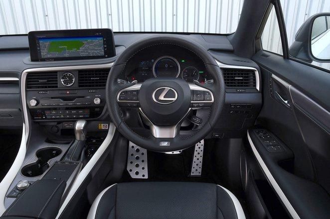 Lexus RX450h 2021 interior dashboard